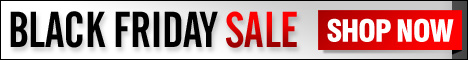 Use this Free 468 x 60 web banner to promote your own Black Friday Sale!