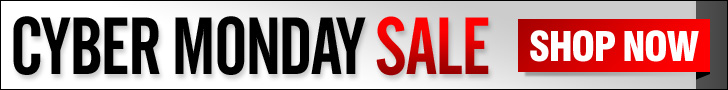 Use this Free 728 x 90  web banner to promote your own Cyber Monday Sale!